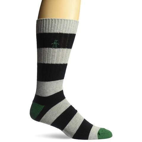 Original Penguin Men's Colorblock Dress Socks, Black, One Size