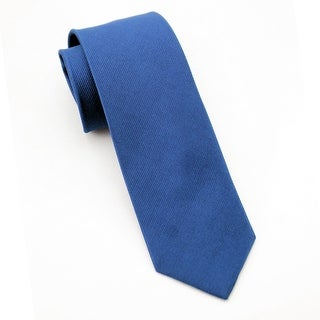 Men's 100% Silk Royal Blue Tie