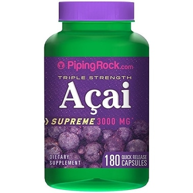 Piping Rock Triple Strength Acai 3000 mg Supreme (180 Quick Release Capsules)