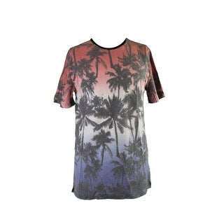 Univibe Indigo Ombre Printed Short-Sleeve T-Shirt L