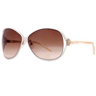 ROBERTO CAVALLI Round RC500S Women's 25G Ivory Gray Sunglasses - 65mm-13mm-120mm