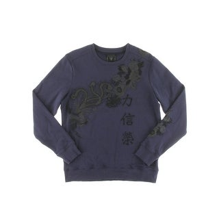 Guess Mens Sweater Embroidered Long Sleeves