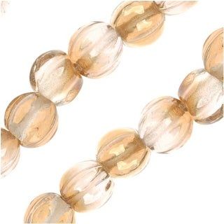 Link to Czech Pressed Glass - Round Melon Beads 5mm Diameter 'Crystal Celsian' (50) Similar Items in Jewelry & Beading
