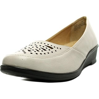 Easy Street Greer Women WW Open Toe Synthetic Ivory Wedge Heel