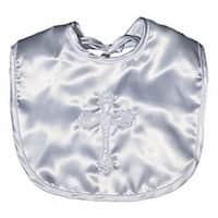Raindrops Unisex Baby Satin Christening Embroidered Unisex Bib - One size