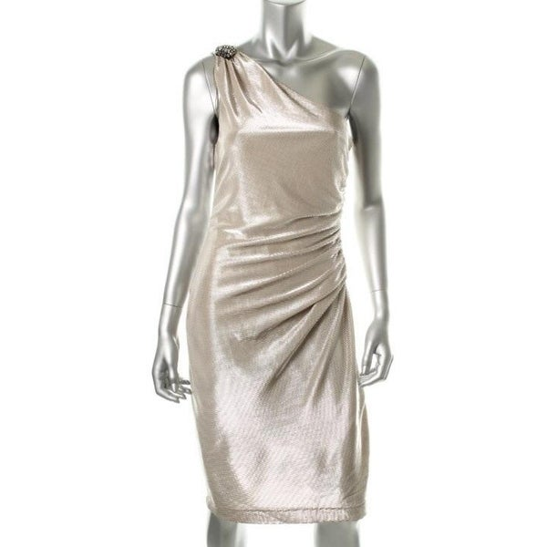 b184223c9a2 Shop London Times Womens Cocktail Dress Lined Metallic - 10 - Free Shipping  On Orders Over  45 - Overstock - 25448737
