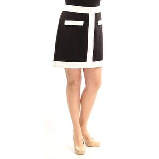 Womens Black White Cocktail Skirt Size 14