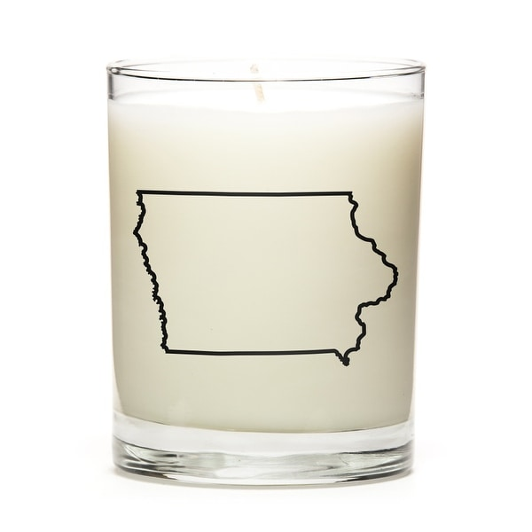 Custom Candles with the Map Outline Iowa, Apple Cinnamon