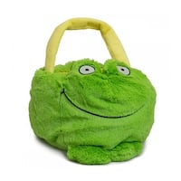 Beverly Hills Teddy Bear Company Plush Frog Basket - 	5.0 in. x 9.0 in. x 9.0 in.