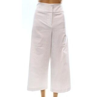 Alfani NEW White Women's Size 14X22 Capris Cropped Front-Tab Pants