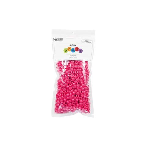 EBL Pony Bead 6x9mm Neon Pink 750pc - Medium