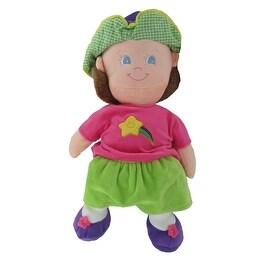 Plush 15 Inch Happy Kids Girl Star Themed Stuffed Doll