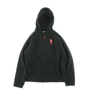 U.S. Polo Assn. Womens Fleece Monogrammed Hoodie - XL