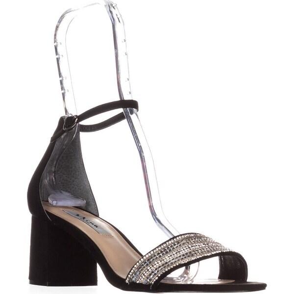 Nina Elenora Ankle Strap Dress Sandals, True Black Glam