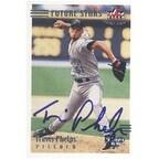Travis Phelps Tampa Bay Devil Rays 2002 Fleer Triple Crown Autographed Card  Rookie Card  This item