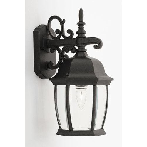 "Designers Fountain 2421-BK 1 Light 8"" Cast Aluminum Wall Lantern from the Tiverton Collection"