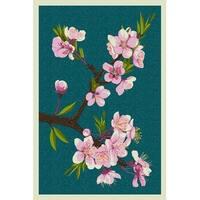 Cherry Blossoms - Letterpress - LP Artwork (Art Print - Multiple Sizes)