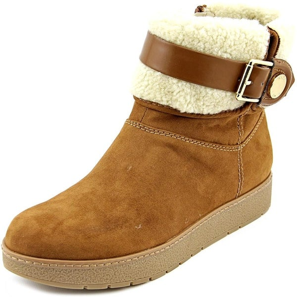 Marc Fisher Belles 2 Women Round Toe Suede Brown Ankle Boot