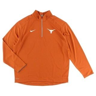 Nike Mens Texas Longhorns College Coaches Half Zip Shirt Orange - XL