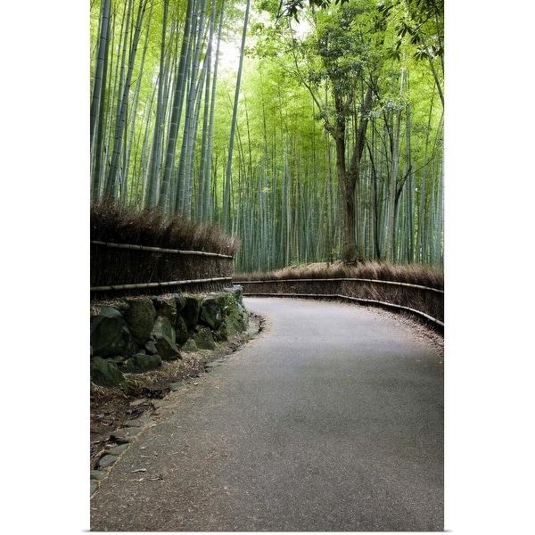 """Bamboo forest in Arashiyama district, Kyoto, Japan"" Poster Print"