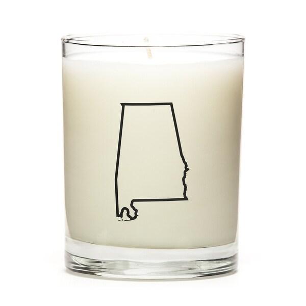 State Outline Candle, Premium Soy Wax, Alabama, Eucalyptus