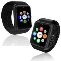 Indigi® GT8 2-in-1 Universal SmartWatch & Phone - Bluetooth Sync 3G Unlocked w/ Camera + SIM Slot + Pedometer (Black) - Black