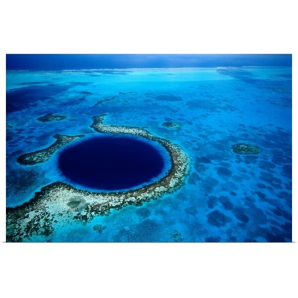 """""""The 'Blue Hole', a popular diving spot along Lighthouse Reef"""" Poster Print"""