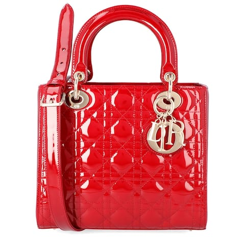 Dior Medium Lady Dior Leather Tote