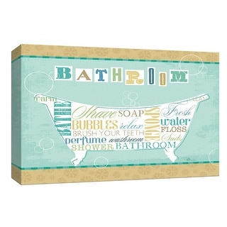 """PTM Images 9-153667  PTM Canvas Collection 8"""" x 10"""" - """"Bathroom Words I"""" Giclee Tubs Art Print on Canvas"""