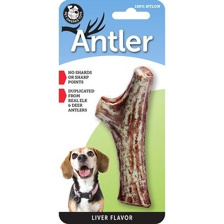 Pet Qwerks Liver Infused Nylon Antler - Aggressive Chewers (Made in the USA)