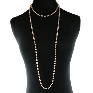 """Nkz170305-10 6Mm Crystal Hand Knotted 60"""" Long Necklace"""