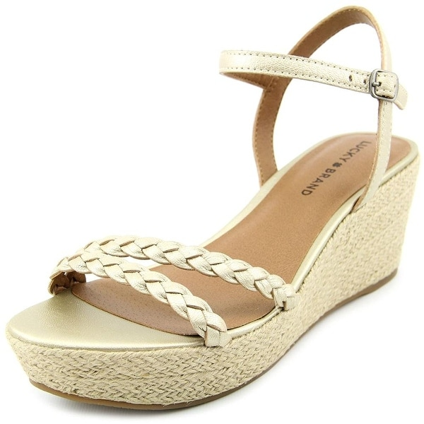 Lucky Brand Womens LYALL Leather Open Toe Casual