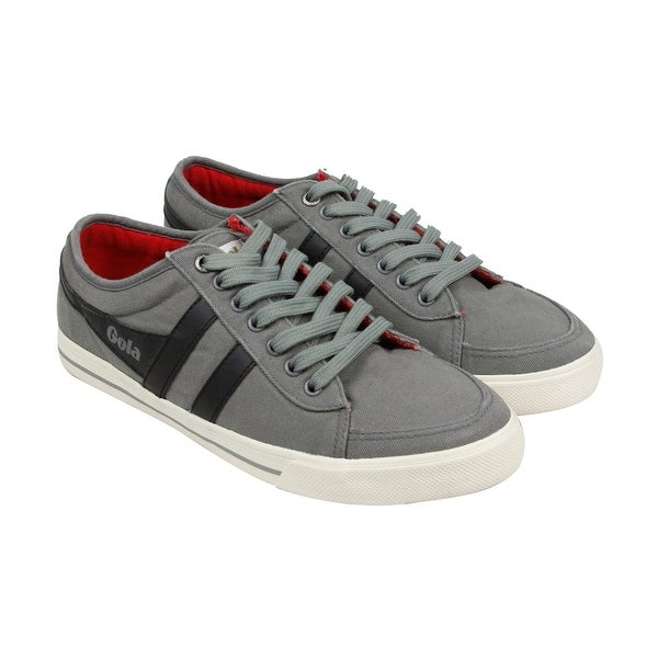 Gola Comet Mens Grey Canvas Lace Up Sneakers Shoes