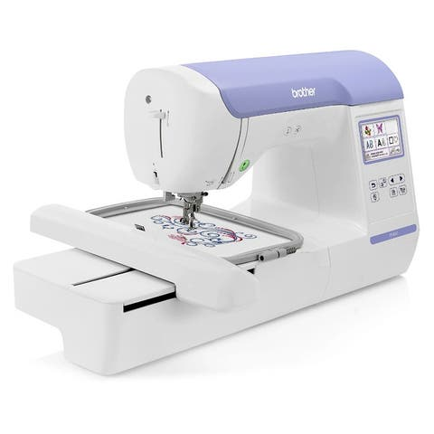 """Brother PE800 5"""" x 7"""" Embroidery Machine w/ Full Color LCD Screen + 11 Built-In Lettering Fonts + 138 Built-In Designs"""
