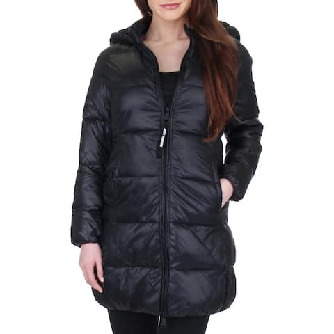 Juicy Couture Black Label Womens Puffer Coat Long Packable
