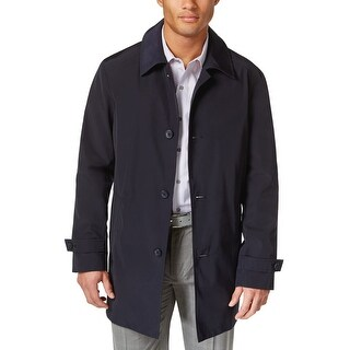 Kenneth Cole New York Ray Raincoat Navy Blue Medium M 40-42