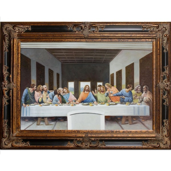 Shop Leonardo Da Vinci The Last Supper Hand Painted Oil