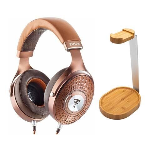 Focal Stellia Circum-Aural Headphones bundle w/ Knox Gear Wooden Stand
