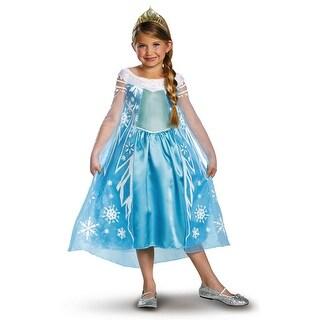 Elsa Deluxe Frozen Costume (2 options available)