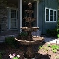 Sunnydaze Large Tiered Ball Outdoor Fountain, 80 Inch Tall - Thumbnail 0