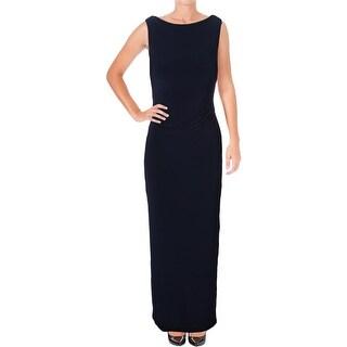 Lauren Ralph Lauren Womens Petites Evening Dress Cowl back Sequined