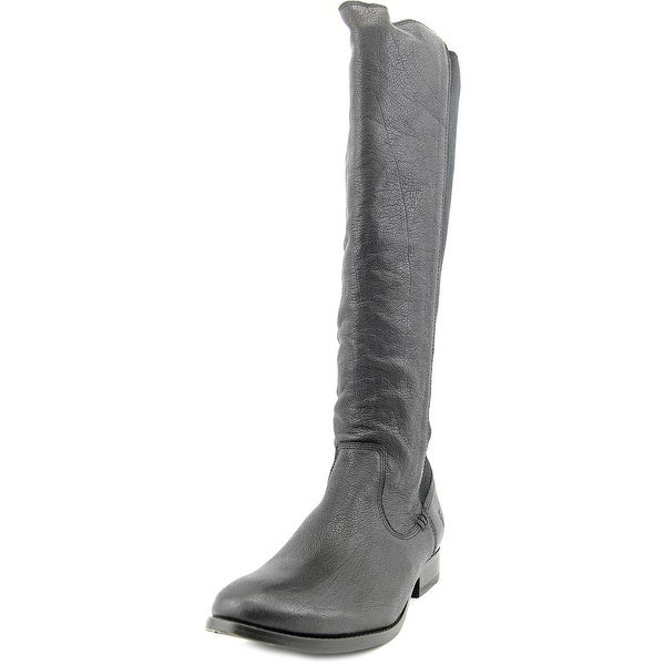 Frye Molly Gore Tall Round Toe Leather Knee High Boot