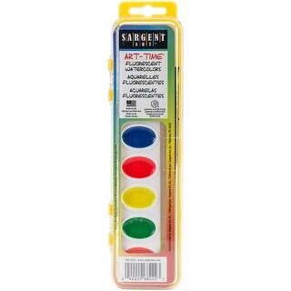 Art-Time(R) Fluorescent Watercolor Set 8/Pkg-Assorted Colors