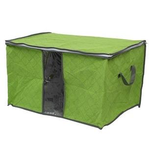Household Home Quilt Clothing Pillow Zippered Storage Bag Organizer Light Green