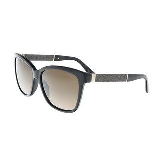 Jimmy Choo Cora/S 0FA3 Black Square Sunglasses - 56-16-135