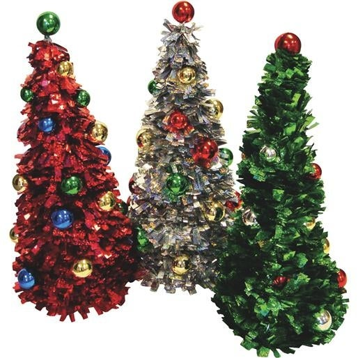 F C Young Red/Grn/Opl Ornamnt Tree PT19-ASST Unit: EACH Contains 6 per case