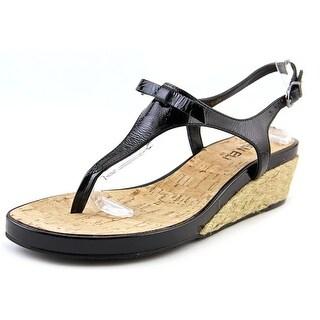 Vaneli Kiliana Women Open Toe Synthetic Black Wedge Sandal