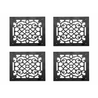 4 Heat Air Grille Cast Victorian Overall 14 x 14 | Renovator's Supply