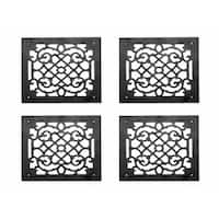 4 Heat Air Grille Cast Victorian Overall 14 x 14   Renovator's Supply