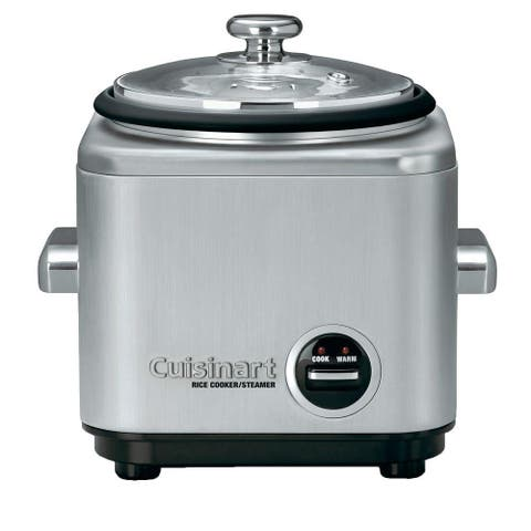 Cuisinart CRC-400 4 Cup Rice Cooker, Stainless Steel Exterior